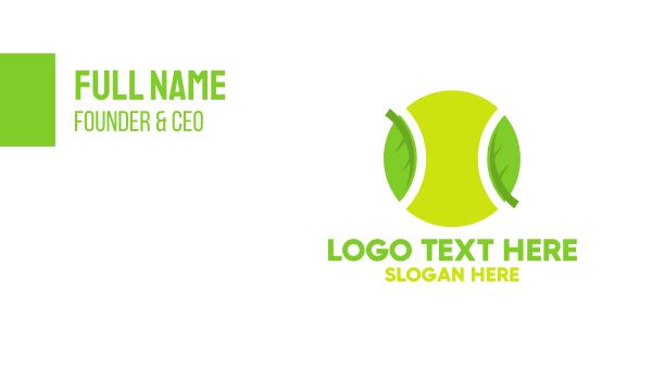 contest - Eco Friendly Tennis Ball Business card horizontal design