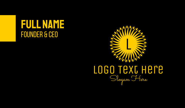 morning - Ornamental Sunshine Business card horizontal design