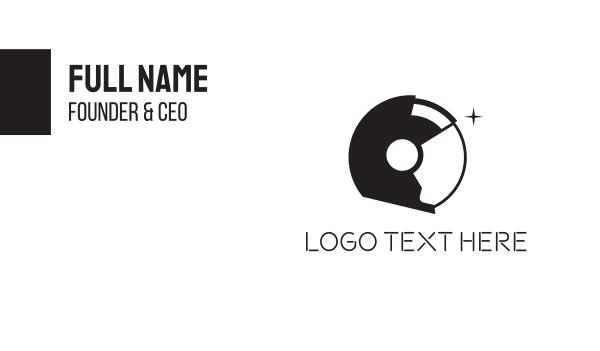 planet - Space Astronaut Helmet Business card horizontal design