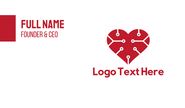 cardio - Tech Love Business card horizontal design