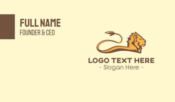 safari park - Gold Lion Business card horizontal design