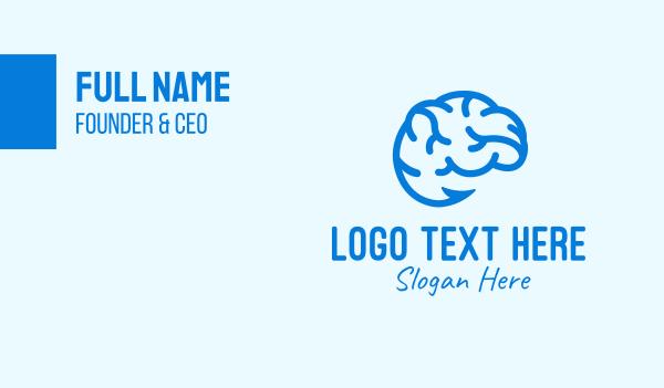 mindful - Blue Brain Hook Business card horizontal design