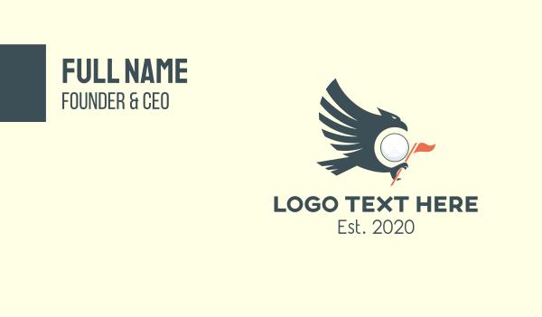 golfing - Eagle Golf Team Business card horizontal design
