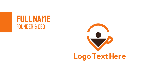 place - Coffee Pin Business card horizontal design