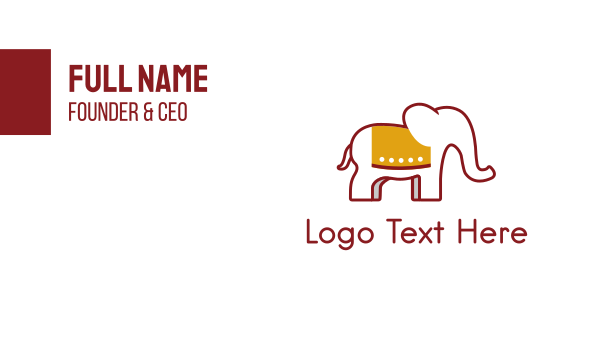 sri lanka - Elephant Red Business card horizontal design