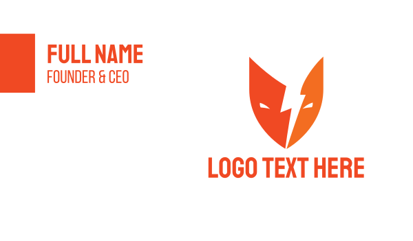 thunder - Thunder Mask Business card horizontal design