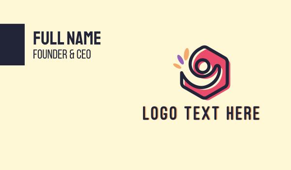 number 9 - Human Resources Business card horizontal design