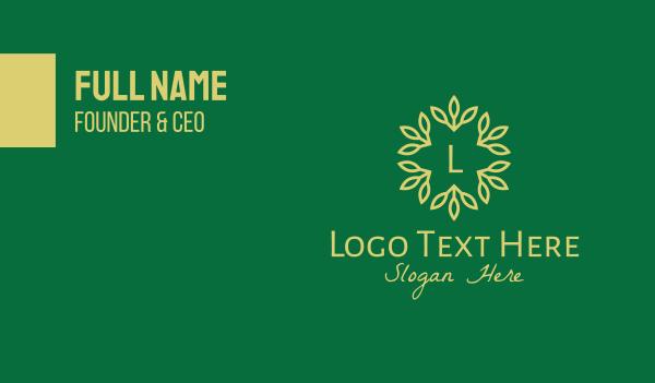 twig - Forest Branch Lettermark Business card horizontal design