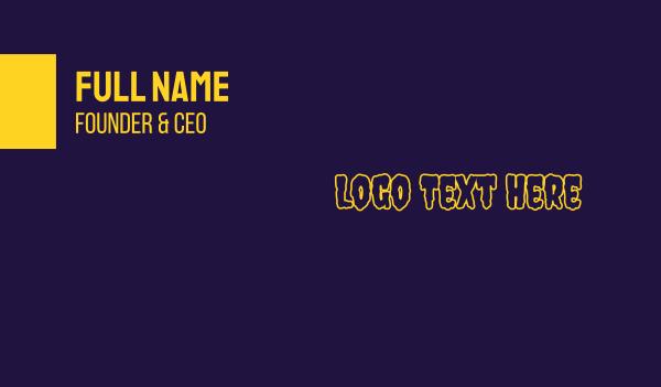 fest - Urban Slime Wordmark Business card horizontal design