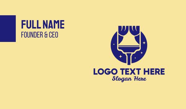 curtain - Interior Design Paint  Business card horizontal design