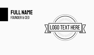 Black & White Hipster Circle Business Card