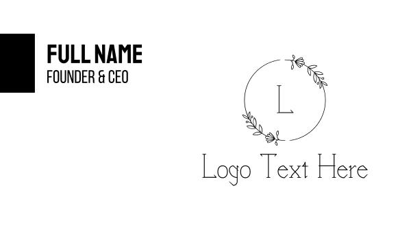 flowers - Elegant Circle Business card horizontal design
