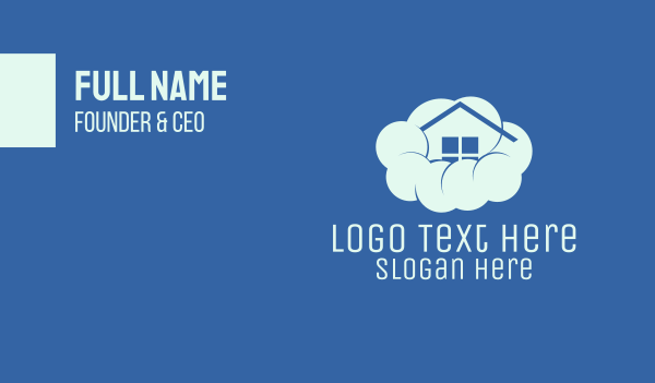 dream - Home Cloud Business card horizontal design
