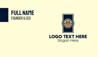 Basketball Ball Business Card
