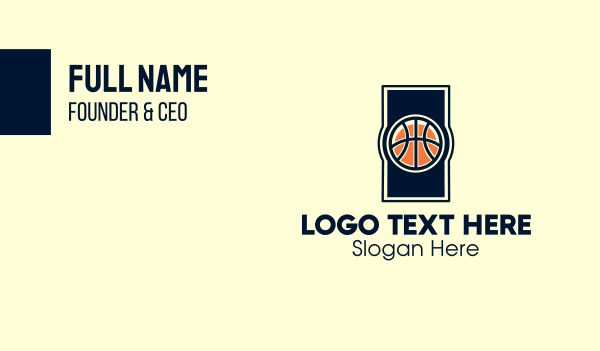 sport - Basketball Ball Business card horizontal design