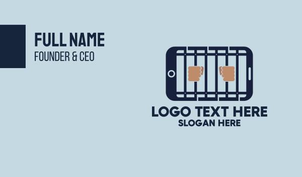 crime - Smartphone Prison Jail App Business card horizontal design