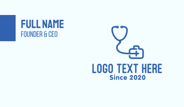 Medical Doctor Consultation Clinic Business Card