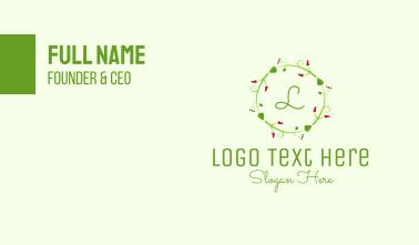 Christmas Decor Lettermark Business Card