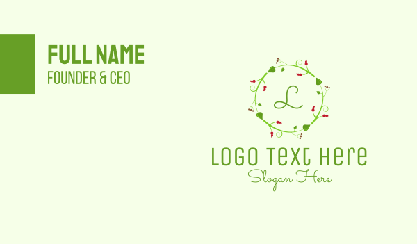 ornamental - Christmas Decor Lettermark Business card horizontal design
