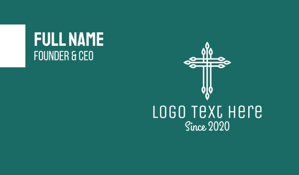 catholic - Elegant Christian Cross  Business card horizontal design