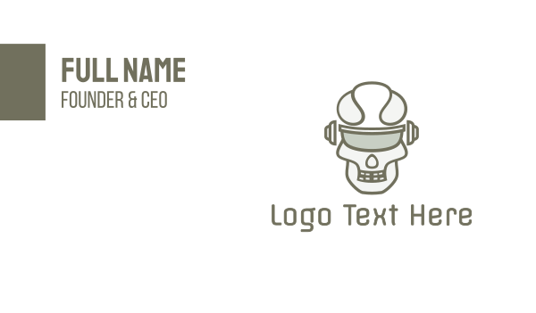 zombie - Cyborg Skull Eyewear Business card horizontal design