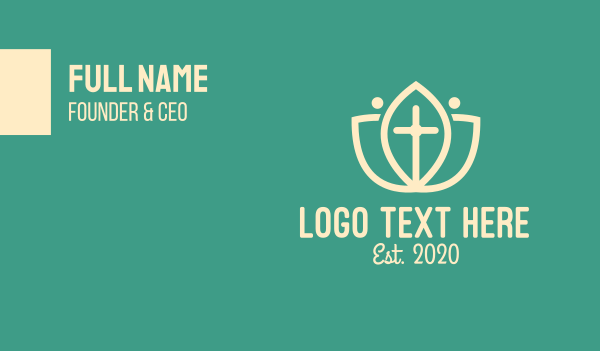 catholic - Nature & Religion Business card horizontal design