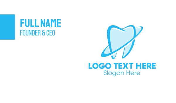 endodontics - Blue Tooth Business card horizontal design
