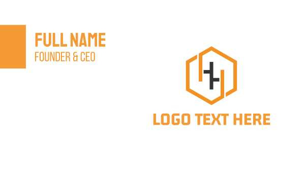 headhunter - Hexagonal Letter H Business card horizontal design