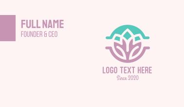 Beauty Yoga Lotus Business Card