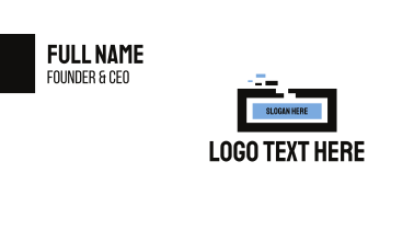 Generic Rectangle Pixel Technology Business Card
