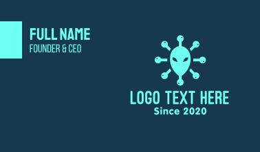 Alien Head Virus Business Card