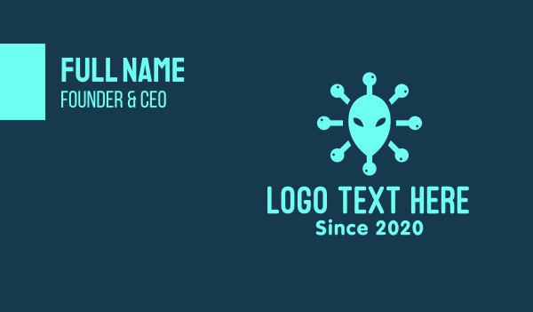 extraterrestrial - Alien Head Virus Business card horizontal design