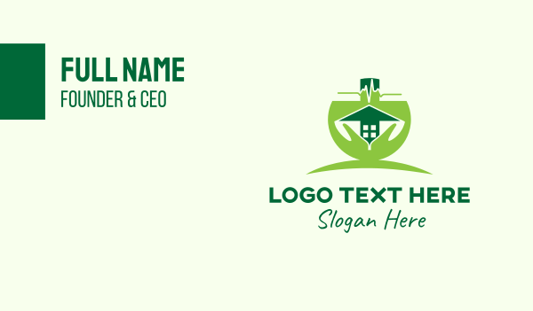 heartbeat - Green Support Care Home Business card horizontal design