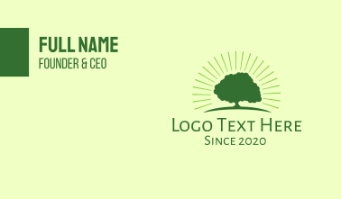 Green Bright Tree Business Card