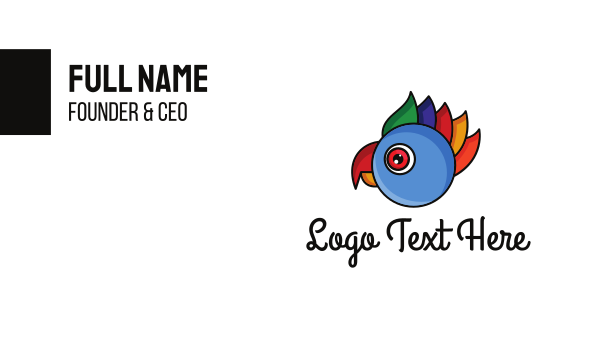 macaw - Colorful Parrot Head Business card horizontal design