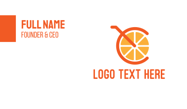 Orange Juice Letter C Business Card
