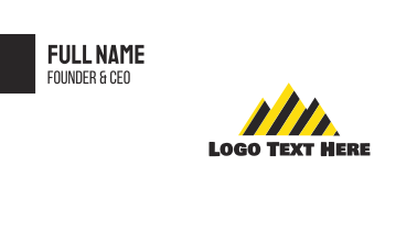 Black & Yellow Mountains Business Card