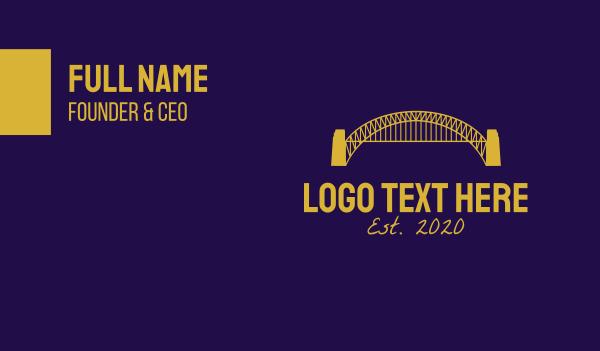 sydney harbour bridge - Blue Harbour Bridge Business card horizontal design