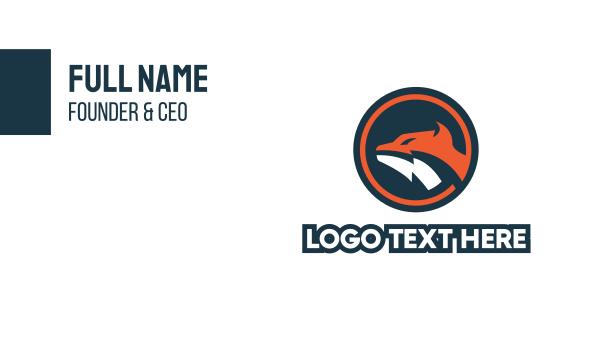hound - Fox Circle Mascot Business card horizontal design