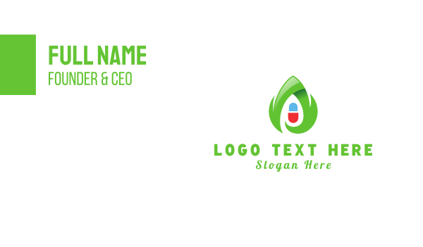 drug store - Eco Capsule Business card horizontal design