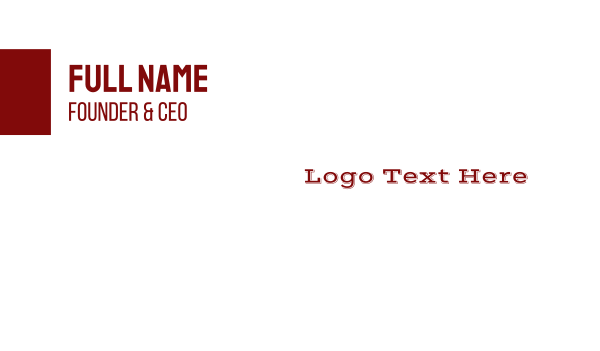 southern - Wild West Wordmark Business card horizontal design