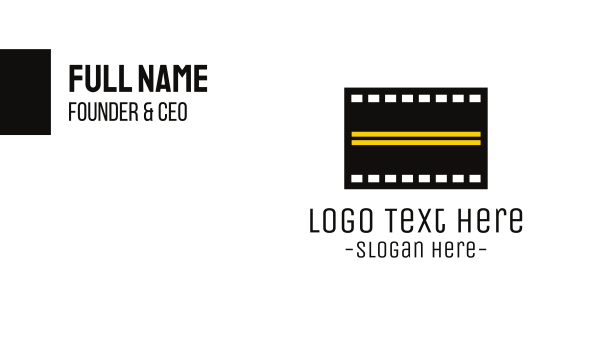 film studio - Road Film  Business card horizontal design
