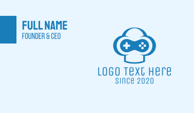 Blue Gamer Business Card