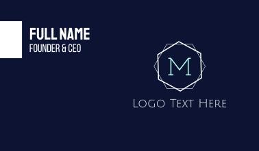 Minimalist M Emblem Business Card