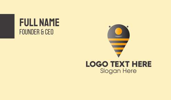 finder - Bee Location Finder Business card horizontal design