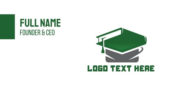 scholarship - Graduation Book Business card horizontal design