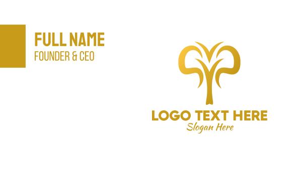 calf - Golden Abstract Elephant  Business card horizontal design