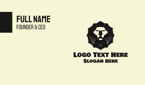 singapore - Lion Mascot Business card horizontal design