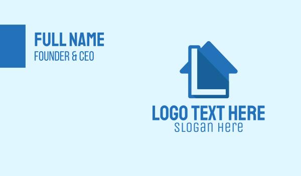 agent - Real Estate Letter L Business card horizontal design