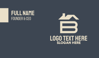 House Letter B Business Card